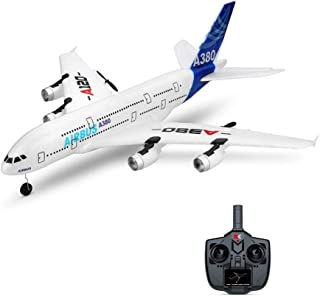 EGFHEAL RC Airplane Glider, WLTOYS A120-A380 Airbus 510mm Wingspan 2.4GHz 3CH RC Airplane Fixed Wing RTF Glider with Mode 2 Remote Controller Scale Aeromodelling