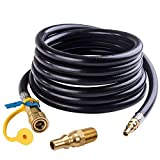 SHINESTAR 12 FT RV Propane Quick Connect Hose with 1/4inch Male Plug for LP Low Pressure System, Quick Disconnect