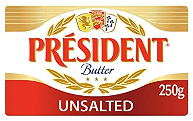 President Butter Block, Unsalted, 250g - Chilled