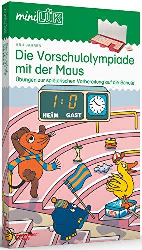 miniLÃœK-Sets: miniLÃœK-Set: Kindergarten/Vorschule: Die Vorschulolympiade mit der Maus: Aufgaben zur spielerischen und effektiven Vorbereitung auf die ... 1 und 2 (miniLÃœK-Sets: Kasten + Ãœbungsheft/e)