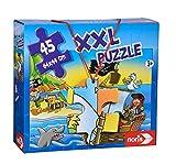 Noris 606034960 XXL Riesenpuzzle Piraten in Sicht mit 45 Teilen (Gesamtgröße: 64 x 44 cm) - für...