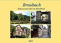 Braubach - Sehenswerter Ort am Mittelrhein (Wandkalender 2022 DIN A2 quer): Kleiner historischer Ort am Mittelrhein (Monatskalender, 14 Seiten )