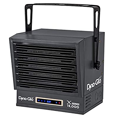 Dyna-Glo Dual Power 15,000W Electric Garage Heater, Black