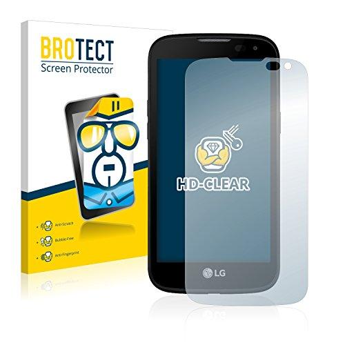 BROTECT Schutzfolie kompatibel mit LG K3 LTE (2 Stück) klare Bildschirmschutz-Folie