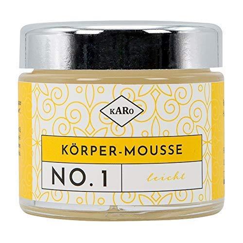 Körper-Mousse leicht NO. 1 mit Sheabutter, Reiskeim- und Jojobaöl, spritziger Zitrusduft, vegan, 100 ml, Glastiegel