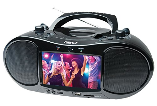 "NAXA Electronics NDL-257 7"" Bluetooth DVD Boombox & TV"