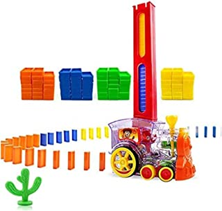 Domino Train Game Toys for Kids Automatic,80PCS Domino Blocks Building and Stacking Toy Blocks Domino Set for 3-7 Year Old...