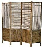 Master Garden Products BSC-98 Self Standing Divider Bamboo Screen, 72 x 72, Tan
