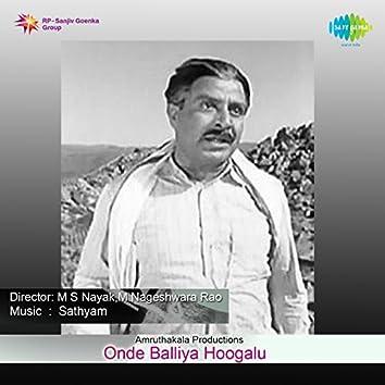 Onde Balliya Hoogalu (Original Motion Picture Soundtrack)