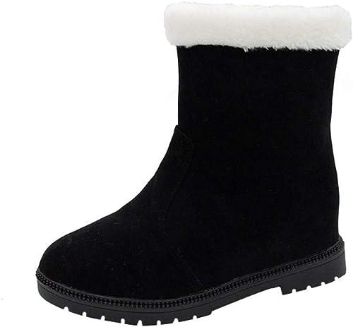 ZHRUI schuhe Stiefel de damen schuhe Casuales Stiefel de Invierno Stiefel de Tobillo Stiefel Cortas schuhe de damen de Invierno Stiefel de Tobillo Planas de Felpa Casual Stiefel de Nieve al Aire Libre