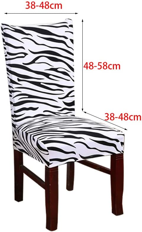 WANYIG Universal Stuhlhussen Stuhl/überzug Stretch 4er 6er Set Stuhlbezug Elasthan Waschbar Esszimmer Sitz Stuhl Abdeckungen Protectors Zebra-Muster, 4er Set
