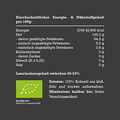 Mituso Bio Kokosöl nativ, 1er Pack (1 x 1 l) - 6