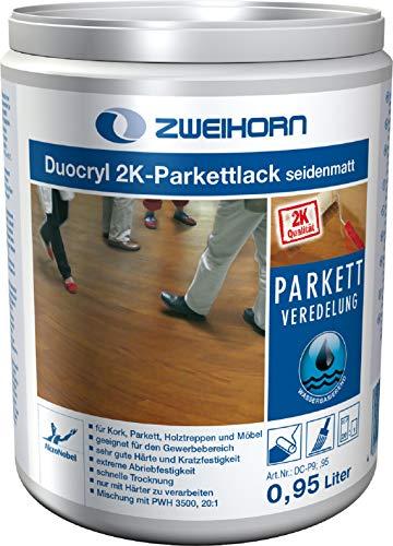 Zweihorn Duocryl 2K-Parkettlack DC-P 9 seidenmatt (0,94 Liter)