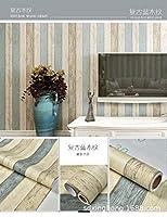 壁紙 はがせる,壁紙のステッカーを剥がし、フラット化と改修のための修理DIY、耐火性と防水性の部屋/キッチン/洗面所/家具レンタル壁紙-60cm * 10m_73602ストライプ