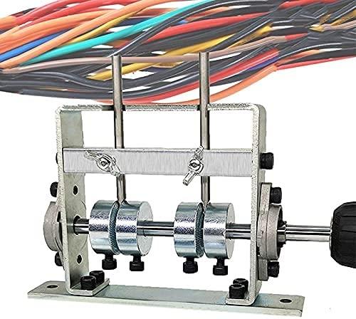 ZRKJ-jl Máquina de pelado de cables con mango Conectado Máquina de stripper de alambre de taladro eléctrico 1-25mm Dos sets Ruedas de alambre con herramienta de placa de fondo fija para chatarra Recic