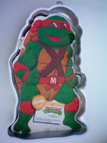 Wilton Teenage Mutant Ninja Turtle Cake Pan w/ Insert -- RETIRED -- 1989 Mirage Studios -- as shown