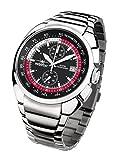 FIREFOX Aviator FFS70-102 schwarz/rot Chronograph Herrenuhr Armbanduhr massiv Edelstahl Sicherheitsfaltschließe 10 ATM Water Resistant