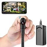 Cámara Espía Wifi, Cámara de Seguridad 1080p HD con Snake Tube Ajustable Manual...