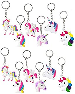 Feidiao Unicorn Bracelets Wristband Unicorn Keychain Keyring,DavonArt Unicorn Birthday Party Favors Supplies for Kids Girls, Pony Toys Prizes Gifts, Rubber Band Bracelet (12 Pack)