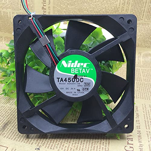 For Nidec A34344-68 12025 12V 0.30A 12CM 3-Wire Chassis Cooling Fan