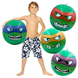 4 Turtles Inflatable Beach Ball Set, Swimming Pool Floats floatie for Summer...