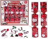 Toyland Pack of 6 - Accessoires Photo Crackers De Noël - Accessoires Photo Selfie