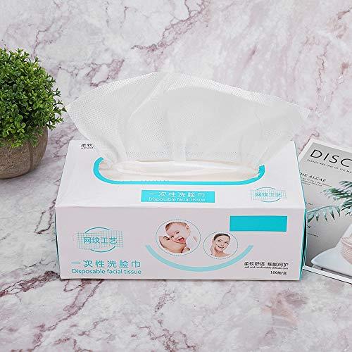 Toalla desechable de 100 piezas con vellón suave para la cara almohadillas de algodón cosméticas maquillaje limpieza facial Toallitas húmedas no perfumadas para bebés y niños toallitas faciales quita