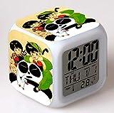 huangyung Niño de Kung fu Reloj Despertador de Dibujos...