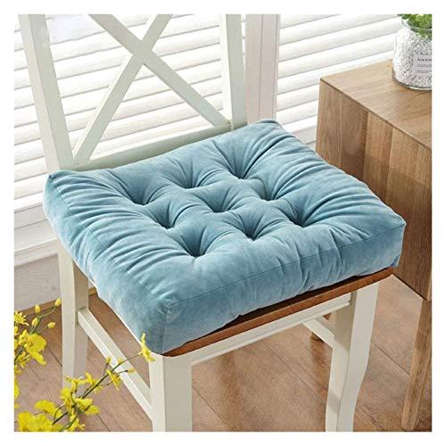KEKEYANG Juego de 2 cojines de asiento, 100% algodón, acolchado grueso, extra firme, 10 cm, para adultos, sillón, silla de jardín (color: mariposa, tamaño: 38 x 38 cm)