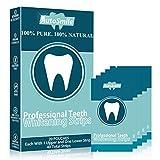 AutoSmile White Stripes 3D Zahnaufhellung mit 40 Streifen gegen Gelbe Zähne Rauchflecken Schwarze Zähne mit Advanced no-slip Technology Bleaching Stripes Kit für Weiße Zähne