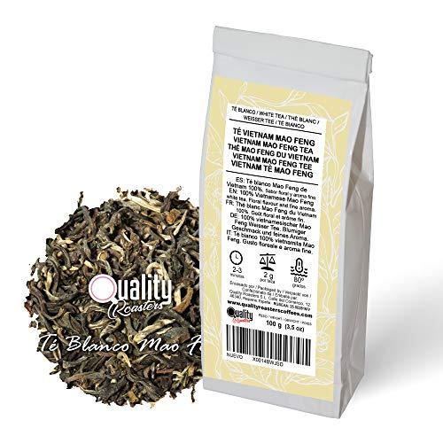 Té Blanco. Vietnam Mao Feng. Infusión clara amarillo-verdosa. Sabor floral y aroma fino. Antioxidante. Diurético. 100 gramos