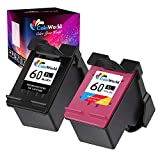 ColoWorld Remanufactured Ink Cartridge Replacement for HP 60 60XL Combo Pack Use with HP PhotoSmart C4700 C4795 C4600 D110a Envy 120 100 DeskJet F4235 F4580 F4400 F2430 Printer (1 Black, 1 Tri-Color)