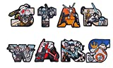 Star Wars Letters Themed Embroidered Iron on Patch Set of 8