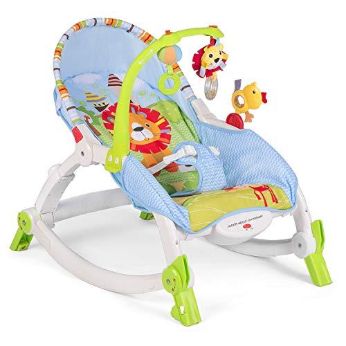 3 in 1 Babywippe Babyschaukel 0+ mit Rassel Vibrationsfunktion Ricokids