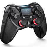 TERIOS Wireless Controllers Compatible with Play-Station 4 Game Controllers for PS-4 Pro, PS-4 Slim-Built-in Speaker - Stereo Headset Jack Multitouch Pad - Rechargeable Lithium Battery(Black)