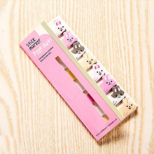 1 STKS Kawaii briefpapier Cartoon Dieren Marker Memo Pad Sticky Bladwijzer Vlaggen Index Tab Sticky Opmerkingen Label Papier Stickers