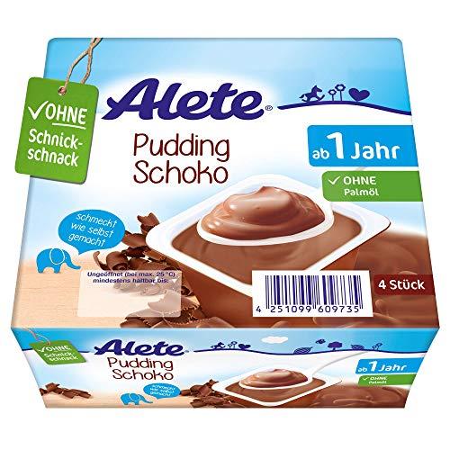 Alete Dessert Pudding Schoko, ungekühlt haltbar, ohne künstliche Aromastoffe & Palmöl, für Kinder ab dem 10. Monat, 1er Pack (1 x 400g)