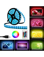 Light Strip 2 Meters Waterproof Lights Decoration Lighting with Remote Control for Kitchen Home Theater Laptop PC Monitor TV Back (USB Powered, Multi-Color, 60 LEDs, 5050 RGB)