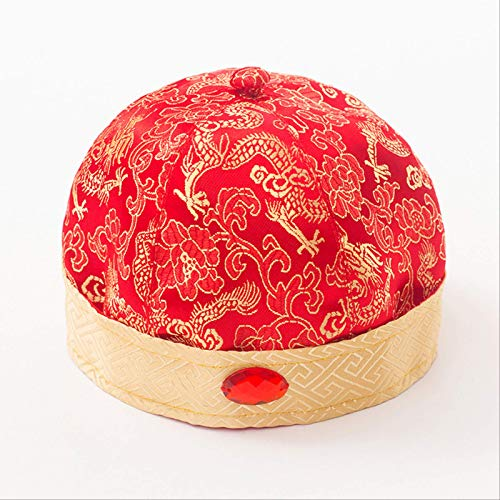 Treasure house The New Male And Female Babies Grab Zhou Tang Dress Children's Hat Newborn Baby Year-old Head Head Landlord Hat Full Moon Year-old Hat