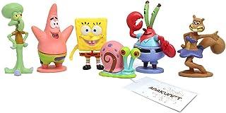 Decoración del acuario de SpongeBob, 6 piezas decorativas del acuario