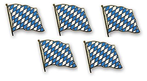 Yantec Flaggenpin 5er Pack Bayern Raute Pin Anstecknadel Fahnenpin