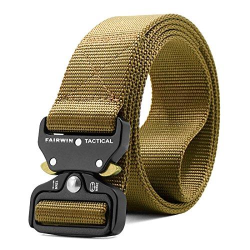 ZORO Men's Woven Tactical Belt with Metal Buckle NB-51-GD
