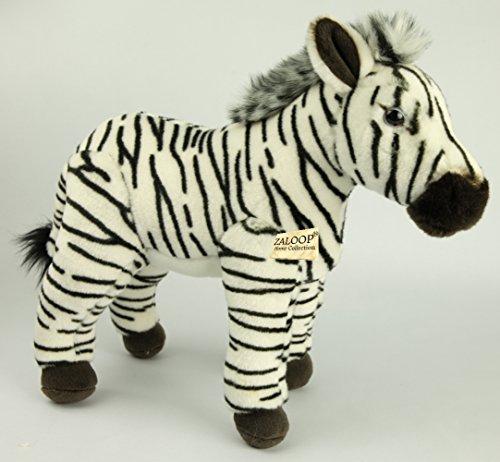 Zaloop Zebra ca. 35 cm Plüschtier Kuscheltier Stofftier Plüschzebra 131