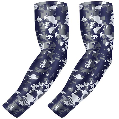 COOLOMG Compression Arm Sleeves Youth Kids for Basketball Football Baseball 1 Pair S