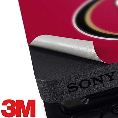 Skinit NFL San Francisco 49ers PS4 Slim Bundle Skin - San Francisco 49ers Team Motto Design - Ultra Thin, Lightweight Vinyl Decal Protection