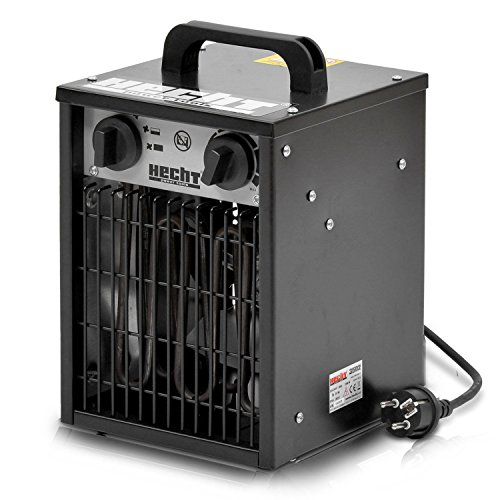 HECHT Heizlüfter 3502 Bauheizer Elektroheizung Elektro Heizgerät Heizkanone mit 2000W
