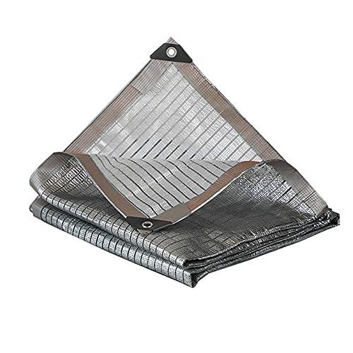 XQKXHZ Reti Ombreggianti Balconi con Buchi Riflettente in Alluminio Foglio Parasole Ombrellone Ombreggiatura Maglia Multifunzionale Durevole in Serra Fienile Cane Intrecciata o Piscina,4x6m/13x20ft