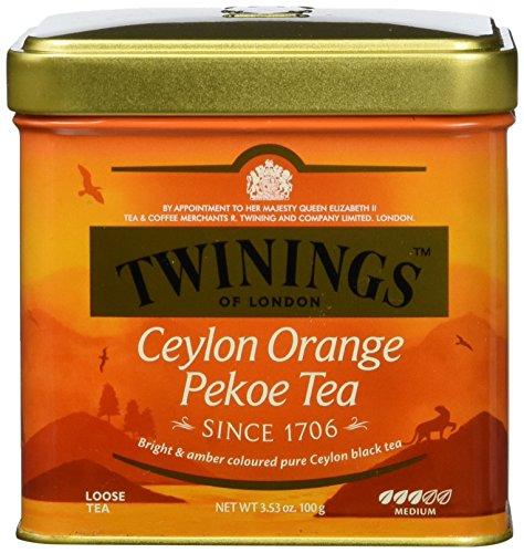 Twinings Ceylon Orange Pekoe Tee Dose 100g, Schwarztee, Das erfrischende Aroma charakterisiert diesen Tee. Black Tea 2er Pack (2 x 100 g)