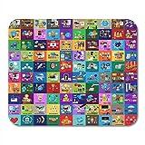 Alfombrillas de ratón, colección de gráficos planos de personajes coloridos para sitios web, plantillas de presentación, aplicaciones móviles, alfombrilla de ratón para portátiles, alfombrillas para o