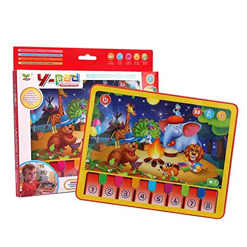 TOY Jouets éducatifs, Jouets pour garçon, Jouets pour fille, Jouets pour voiture, Modèles de voiture, Tablette d'apprentissage pour animaux Musique Toddler Pad Jouet d'apprentissage précoce pour enfa